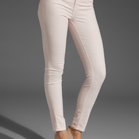 J Brand Coated Skinny Lowrise Pant in Coated Romantic Sparkle