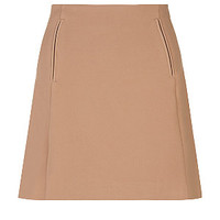 Camel Pocket A-Line Skirt