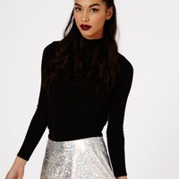 Missguided - Ekata Hologram A-Line Skirt