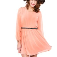STUD CHIFFON DRESS