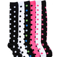 DOT PATTERN KNEE HIGH SOCKS
