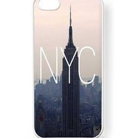 Case Cartel® NYC New York City Phone Case for iPhone 5 / 5S - Retail Packaging (Black)