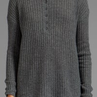 360 Sweater Helena Cashmere Pullover in Heather Grey