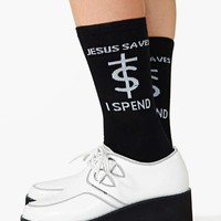 UNIF Jesus Saves Socks