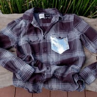 "The Boyfriend ""Hipster Dazzle"" Flannel - w/Sequin Chest Pocket"