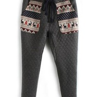 Tribal Quilted Pants