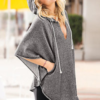 Split-neck French Terry Poncho - Supermodel Essentials - Victoria's Secret