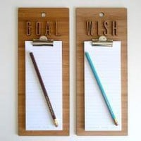 Wish Goal List Clipboards ? ACCESSORIES -- Better Living Through Design