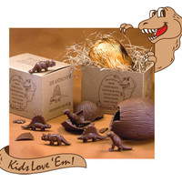 Giant Milk Chocolate Dinosaur Egg with Baby Dinos Gift Box