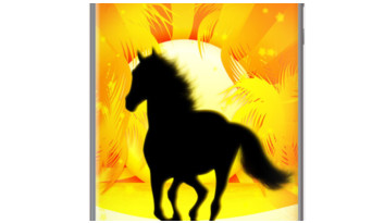 Wild Horse Running on Tropical Beach By BluedarkArt for Apple iPhone 5