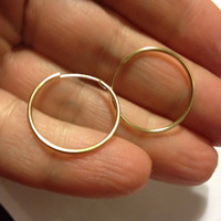 14K Hoops Earrings Gold New Vintage Yellow Huggies YG Estate Stamped Jewelry Bridal Gift Women Girl Polished Prom Wedding Valentines Mothers