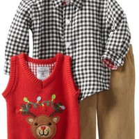 Mud Pie Baby-Boys Infant Reindeer 3 Piece Set