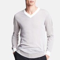 Lanvin Cotton & Wool V-Neck Sweater | Nordstrom