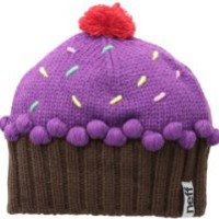 Neff Women's Cupcake Beanie, Neon Purple, One Size