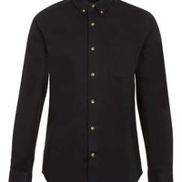 Black Twill Long Sleeve Shirt - Men's Shirts - Clothing