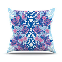 "Aimee St. Hill ""Baroque Blue"" Throw Pillow"