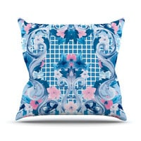 "Aimee St. Hill ""Ornate Blue"" Throw Pillow"