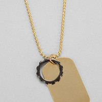 Union Dog Tag Necklace - Urban Outfitters