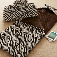 Fur Sleeping Bag - Zebra