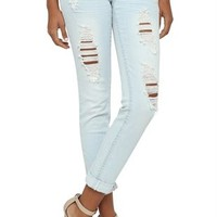 almost famous super light roll up skinny jean