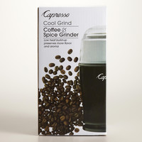 Capresso Black Cool Touch Coffee Grinder