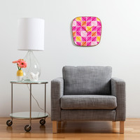 Heather Dutton Facets Bright Modern Clock