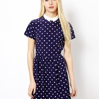 River Island Spotty Tappy Dress