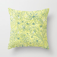 Sketchpad Throw Pillow by Heather Dutton