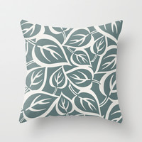 Falling Leaves Throw Pillow by Heather Dutton