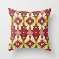 Butterfly Migration Throw Pillow by Heather Dutton