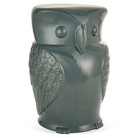 Owl Stool, Teal