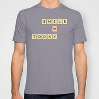 Smile Today T-shirt by MadTee