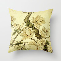 Floral Throw Pillow by Armine Nersisian