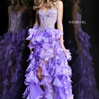 Sherri Hill 11093 Strapless High Low Dress