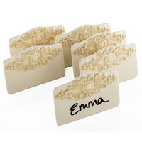 Medallion Place Cards - Set of 6