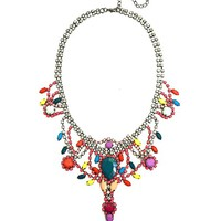 Rainbow Jeweled Necklace