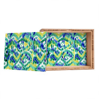 CayenaBlanca Green Ikat Jewelry Box