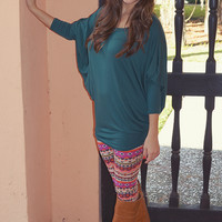 Casually Comfy Piko Tunic: Hunter Green