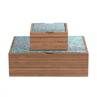 Lisa Argyropoulos Blue Mist Snowfall Jewelry Box