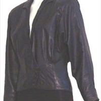 80s Slouchy Black Leather Jacket