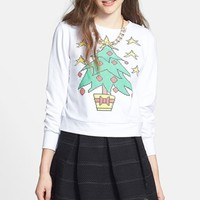 Starling 'Digital Decorated Tree' Sweatshirt (Juniors) (Online Only) | Nordstrom