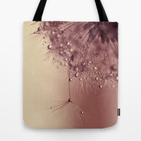 droplets of dusty pink Tote Bag by ingz
