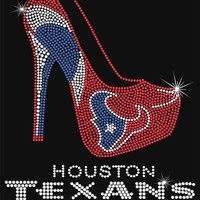 Rhinestone Iron-On Transfer - Houston Texans Heel - DIY Iron On Rhinestone Transfer