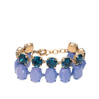 DOUBLE-ROW CRYSTAL BRACELET
