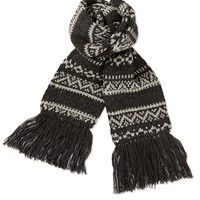 Fairisle Striped Scarf