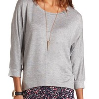 HI-LOW DOLMAN TUNIC