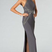 Floor Length Sleeveless Open Back Dress