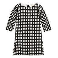 GIRLS' JULES DRESS IN WINDOWPANE