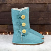 Cold As Ice Sea Green Snow Boot