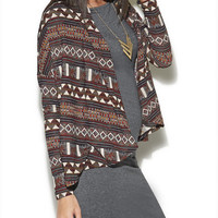 Long Sleeve Tribal Wrap | Wet Seal